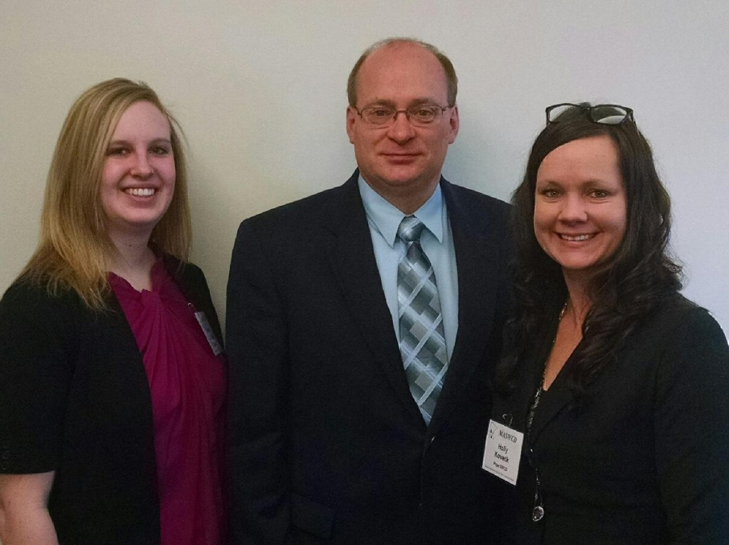 Jessica Oldakowski, Rep. Jeff Backer, Holly Kovarik