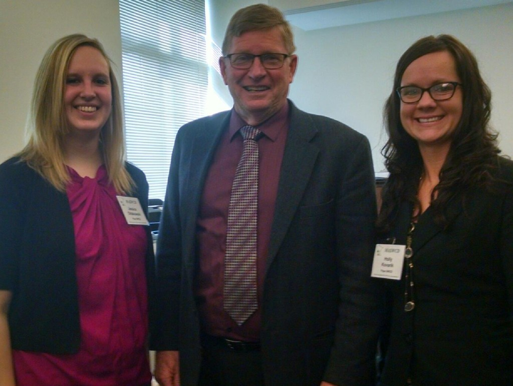 Jessica Oldakowski, Rep. Paul Anderson, and Holly Kovarik