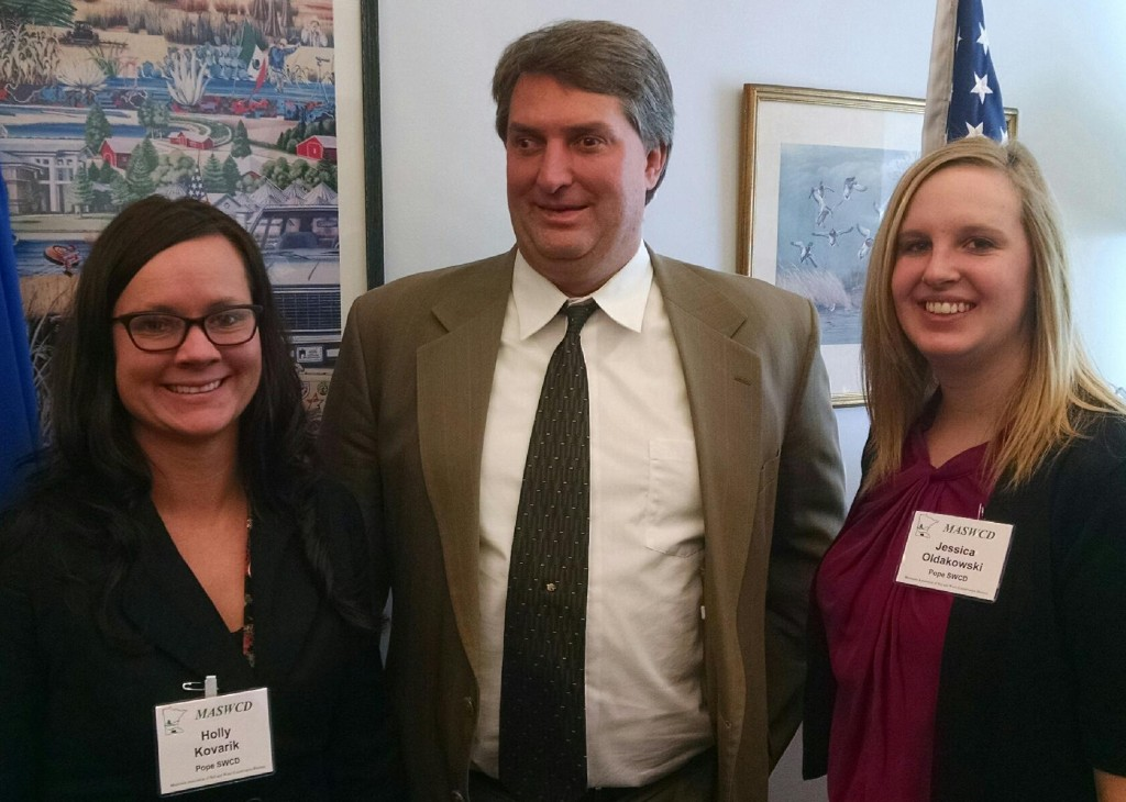 Holly Kovarik, Senator Torrey Westrom, and Jessica Oldakowski